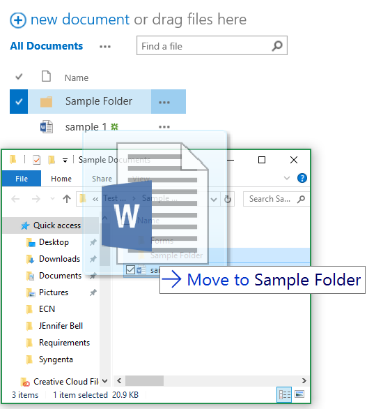 How to move files in SharePoint - Step 4