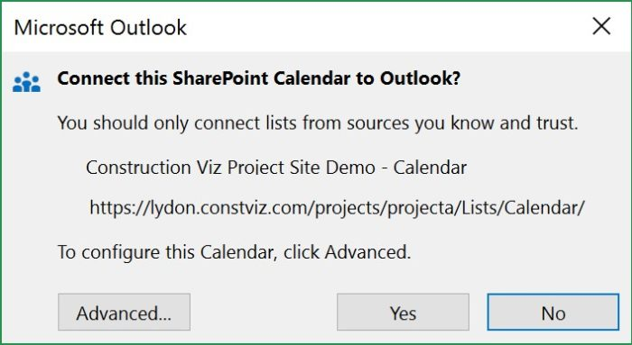 Connect A SharePoint Calendar with Outlook | Lydon Solutions